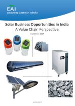 Solar Business Opportunities in India - A Value Chain Perspective
