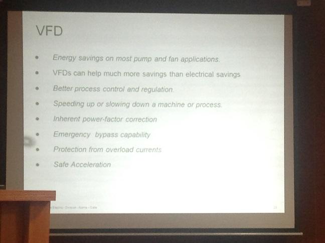 Small VFD Benefits Summary EnEff
