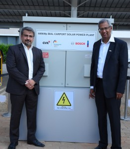 Mr. Hari Marar (left), President, Airport Operations BIAL, and Mr. Soumitra Bhattacharya, president, Bosch Group India