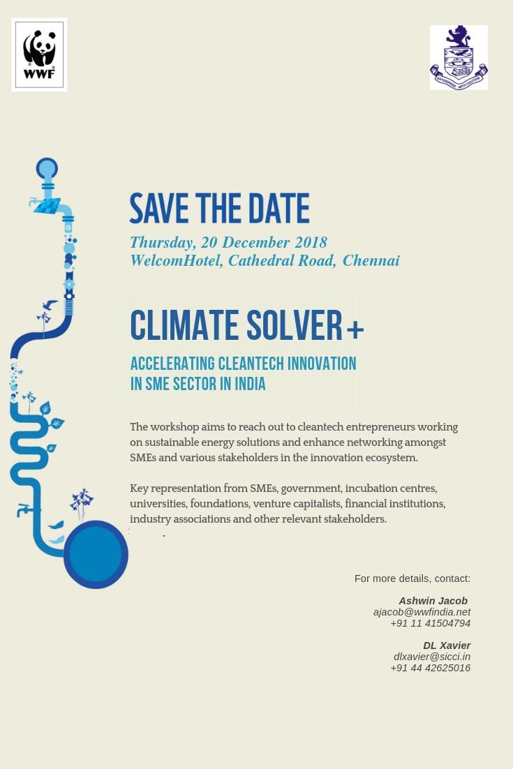 Draft Invite_Climate Solver Regional Workshop_WWF & SICCI_Dec 2018